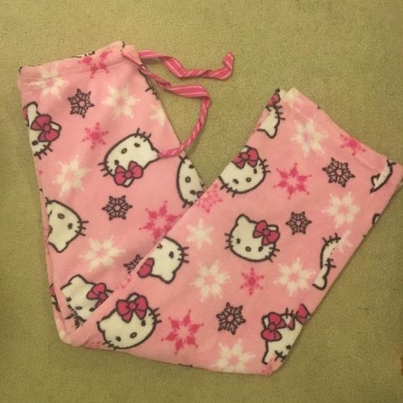 bf79a3e15 Hello Kitty Pants   Womens Fleece Pajama   Poshmark